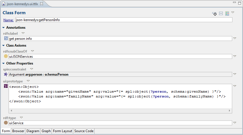 SPARQL Web Pages - Creating JSON